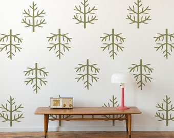 Wall Pattern Vinyl Wall Decals, Woodsie Leaf Pattern, Wallpaper, Stickers,  item 10041
