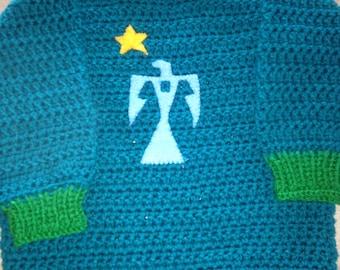 Thunderbird Child's Sweater-Green