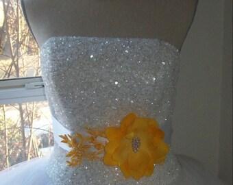 Yellow Sash,Bridal Sash,Sash,Wedding Sash,Yellow Wedding,Wedding Accessories,Bridesmaid Sash,Flower Girl Sash,Rhinestone Sash,Bridal Belt
