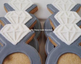 Diamond ring cookies 1 dozen