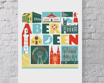 Aberdeen, Scotland print