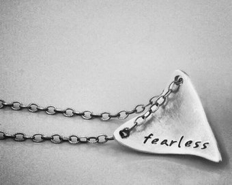 Shark Tooth Necklace - Personalized with Name, Date or Initials.