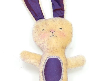 Bunny Rabbit Stuffed Animal Toy - Mohair and Silk with Wool Stuffing - Plush Toy Softie from Natural Materials