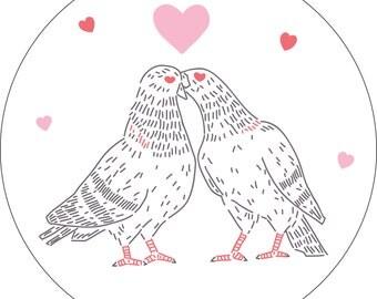 Love Pigeons PDF Embroidery Pattern
