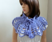 Serendipity Shawlette/Cowl in Periwinkle Blue
