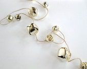 Christmas Garland ~ gold  jingle bell garland ~ 6 feet long - choose bells - Christmas decor, holiday decor, holiday party,  winter wedding