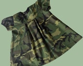 Army Camo Camouflage Costume for baby girl - Halloween Costume Size 6-12 months