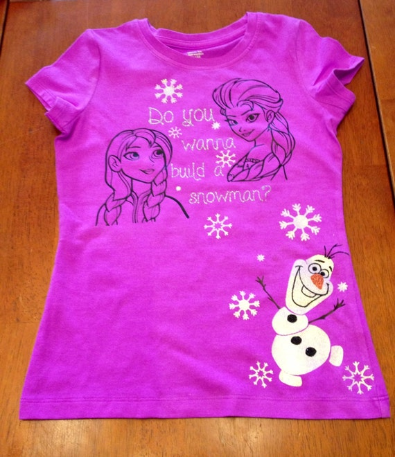 Items Similar To Frozen Glitter Flat Vinyl T Shirt Ana