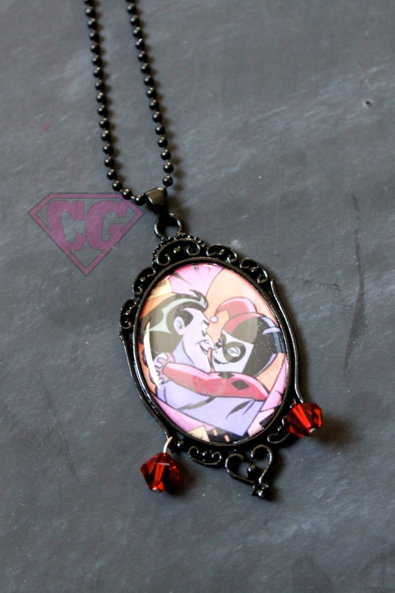 Harley quinn and joker necklace for Harley quinn and joker jewelry