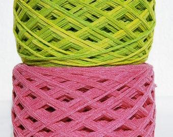 Raw Bamboo Yarn, Hand Dyed 215 gram / 7.6 oz, Vegan