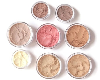 Mineral Makeup Premium Set - Medium Warm/Neutral