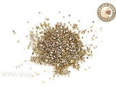 1.2mm Half Round Gold Chrome Flat Back Acrylic Cabochon Nail Art - 100 pcs