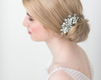 Wedding Hair Comb, Pearl Bridal Hair Comb, Crystal & Pearl Hair Comb, Bridal Headpiece, Wedding Hair Accessory