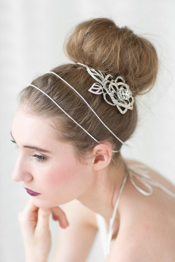 Rhinestone Hair Wrap, Wedding Hair Accessory, Crystal Headpiece