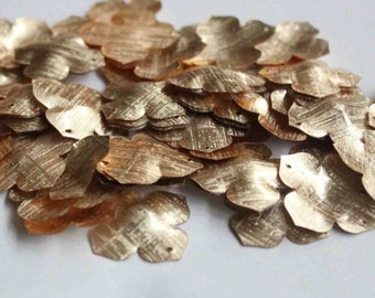 25 pcs Textured Golden Color Flower Sequins/KBBF483