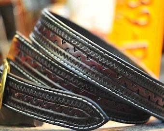 "The Moe Rockin - a 1.75"" wide custom leather belt"