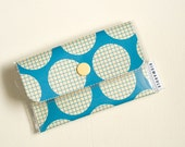 Card Wallet - Blue Grid
