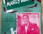"Collectible ""Mairzy Doats"" sheet music / Vintage Sheet Music / 1940s Art Cover Design - Mairzy Doats Popular 1940s Music"