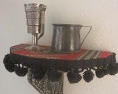 Gypsy Trunk Shelf Bracket with Ball Fringe