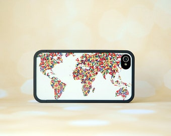 World Map + iPhone Bumper Case + Flags of the World iPhone Case