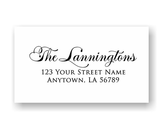 Personalized Self Inking Return Address Stamp - self inking address stamp - Custom Rubber Stamp R213