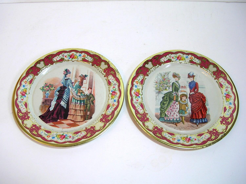 Vintage Tin Plates 120