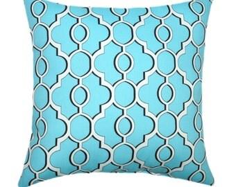 Mill Creek Drammen South Seas Aqua Blue Outdoor Decorative Pillow Free Shipping