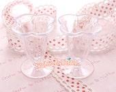 Miniature Sundae Cups / Miniature Plastic Cups / Parfait Cups / Clear Plastic Cups / Slim Dolly Cup - 5pcs