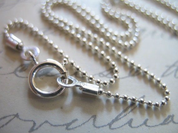 Shop Sale.. 1 pc, 16 or 18 inch, 1 mm BALL CHAIN, 925 Sterling Silver Finished Chain 10-40% Less Bulk, wholesale done d33.t hp