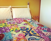 African wax duvet cover, wax print duvet, custom prints made to order
