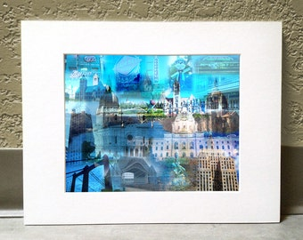 A Tale of Two Cities 16 x 20 Matted Print - Twin Cities, MN