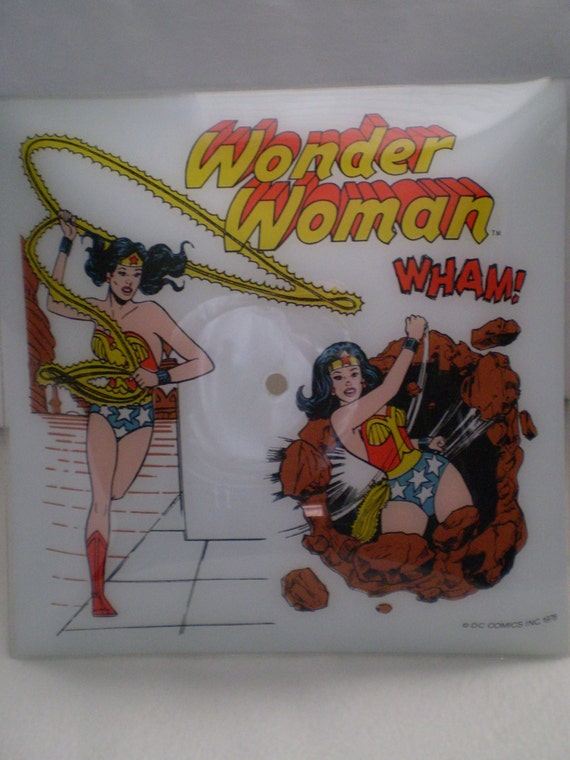 Vintage Wonder Woman Frosted Glass Ceiling Light By Bizzard