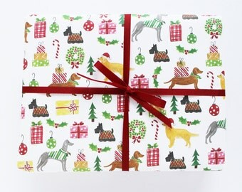 Gift Wrap - Holiday Dogs Wrapping Sheets