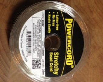 PowerCord Elastic Cord - Clear -105mm diameter - 22 lb test