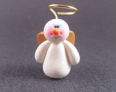 Whimsical Snow Angel, Miniature Christmas and Winter Collectible Figurine