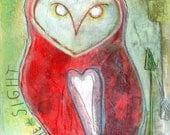 Infinite Sight - Barn Owl Fine Art Print