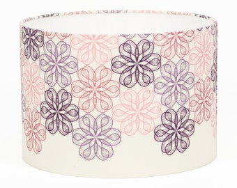 Vintage Lace Lampshade // Large Drum Lampshade // Cotton Light Shade // DISCOUNT SALE // CLEARANCE