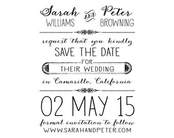 Oh So Sweet Save the Date Stamp