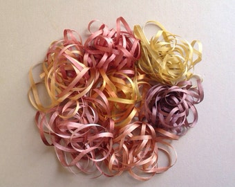 Spice Mix - 14 metres of 3.5mm silk ribbon