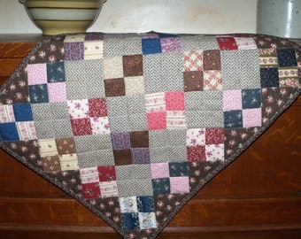 Civil War doll quilt ~ Table topper