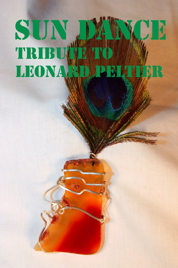 Sun Dance  FREE  LEONARD  PELTIER  Political Prisoner & Indian Brave  -Abstract  Mask  Hand Sculpture