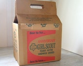 1962 Girl Scout Cookies Box • 50th Anniversary Girl Scouts Memorabilia • Peanut Butter Sandwich Cookie Carton