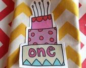 Cake Applique Sample Sale - First Birthday Iron on embellishment