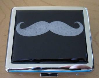 Hipster Mustache Pill Box