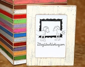 Colored Photo Picture frame, 3x3, 4x4, 4x6, 5x5 or 5x7 Weathered Distressed Frame, Square Instagram frame,