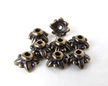 TierraCast Antiqued Brass Ox Bead Cap Tiny Leaf 5mm bcp0053 (8)