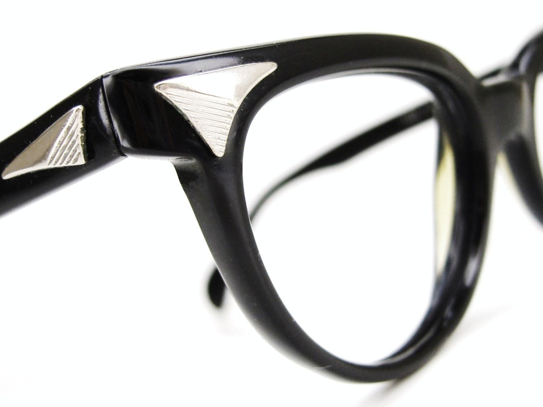vintage black cat eye glasses eyeglasses sunglasses atomic