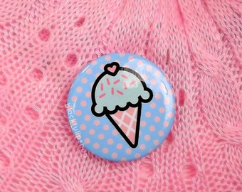 Kawaii Badge Ice Cream Badge Pastel Button Fairy Kei Sweet Lolita Backpack Cute Pin