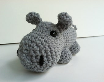 Amigurumi Crochet Gray Hippo Plush Toy Kawaii Plush Hippo Gift Under 25 Nursery Decor Stuffed Animal Hippo Plushie Hippo Doll Hippopotamus