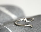 Snake Sterling Silver Ring - Slightly Oxidized - Made To Order